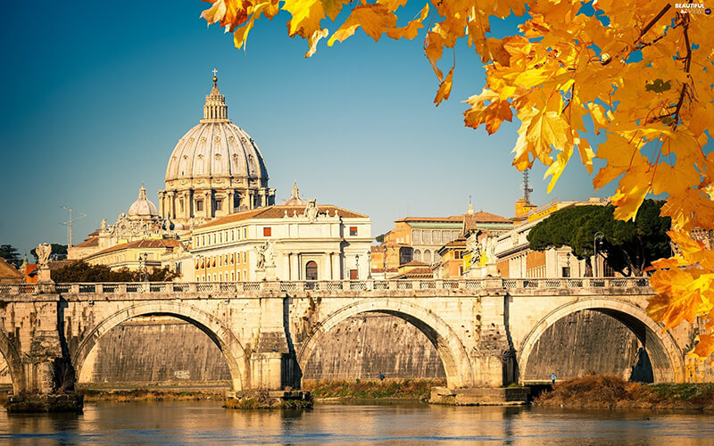 Cidade de Roma no outono