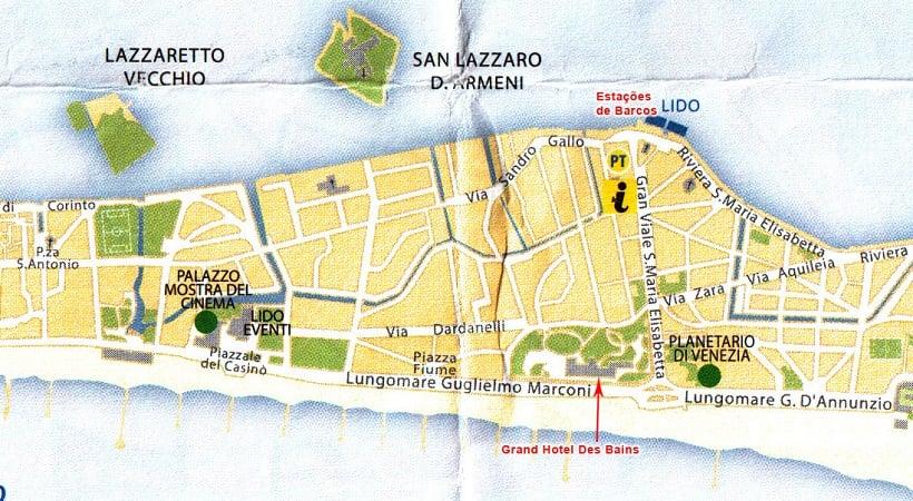 Sobre a Ilha Lido di Venezia na Itália