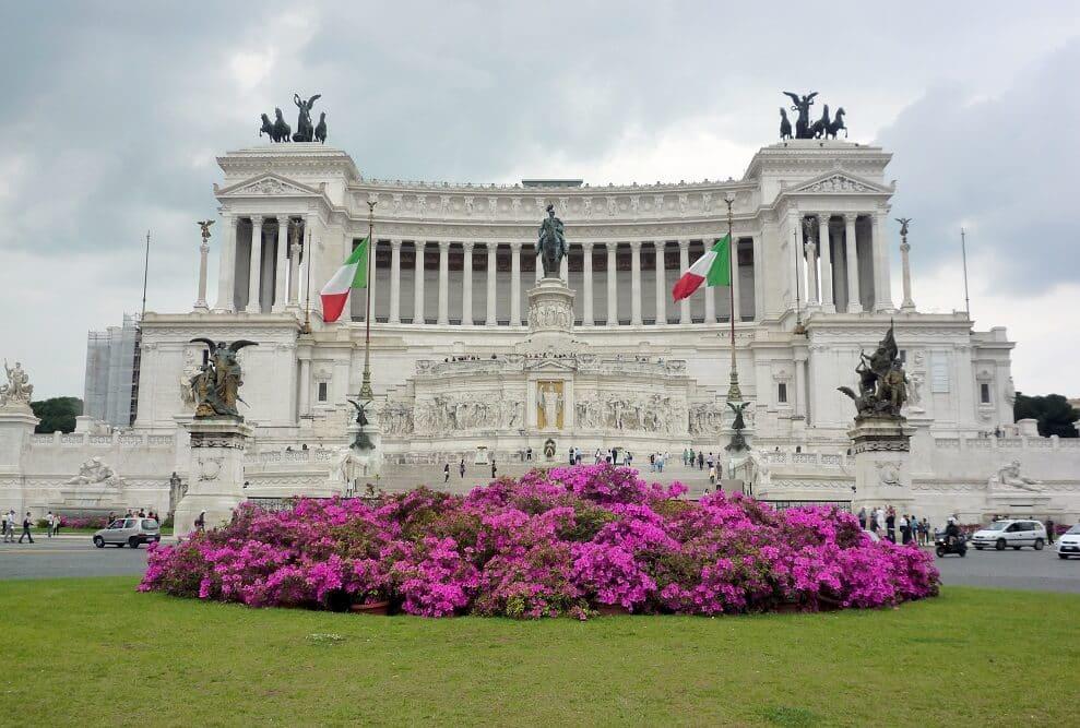 Museu Vittoriano na Piazza Venezia em Roma
