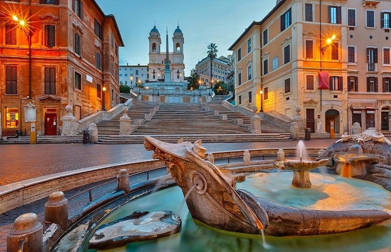 Piazza Spagna em Roma