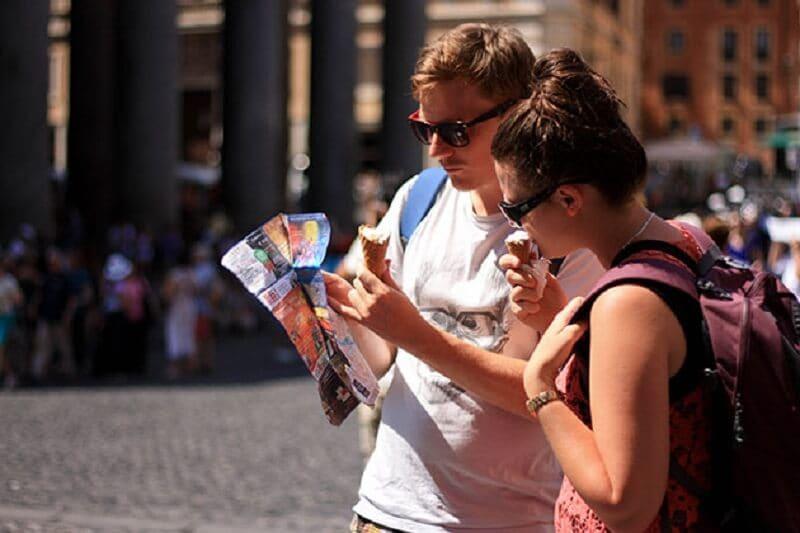 Como se localizar em Roma