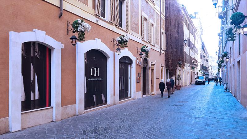 Via Borgognona em Roma