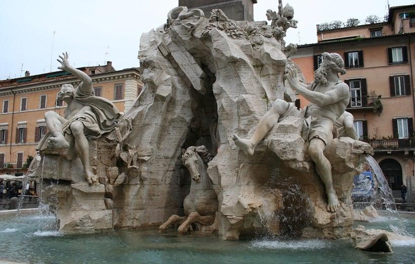 Fonte da Piazza Navona em Roma