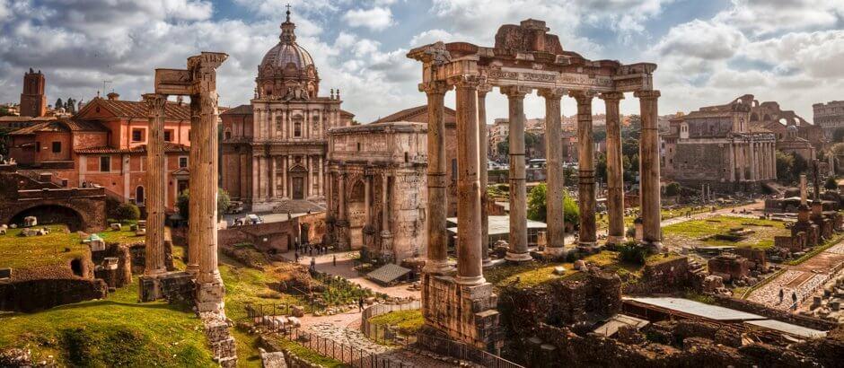 Fórum Romano em Roma Itália