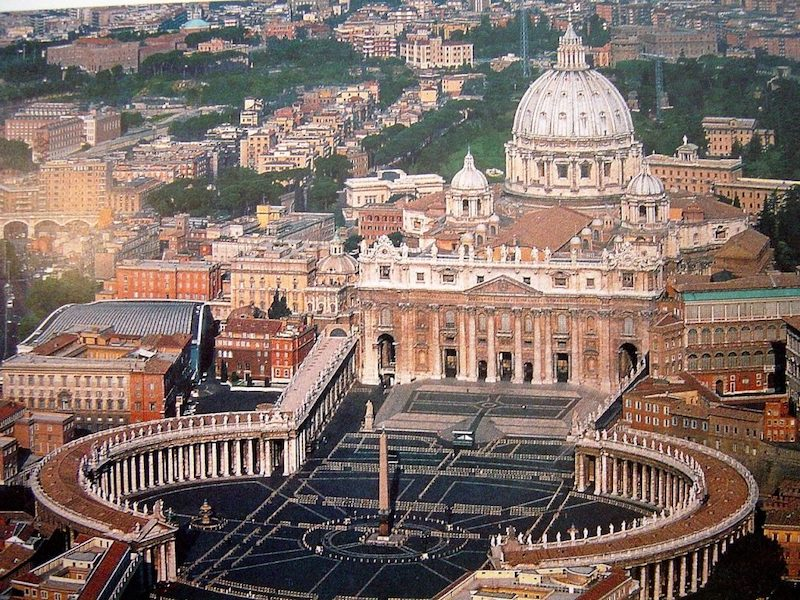Praça do Vaticano em Roma