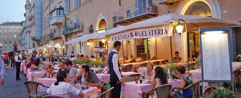 Restaurantes na Piazza Navona em Roma