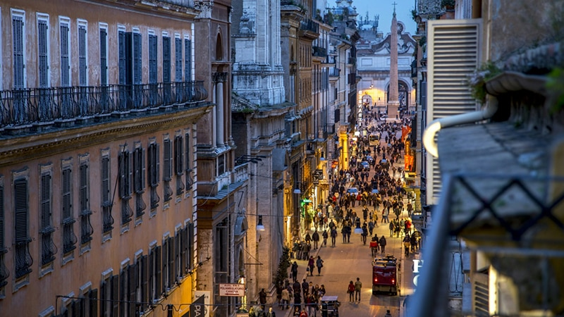 Via del Corso em Roma