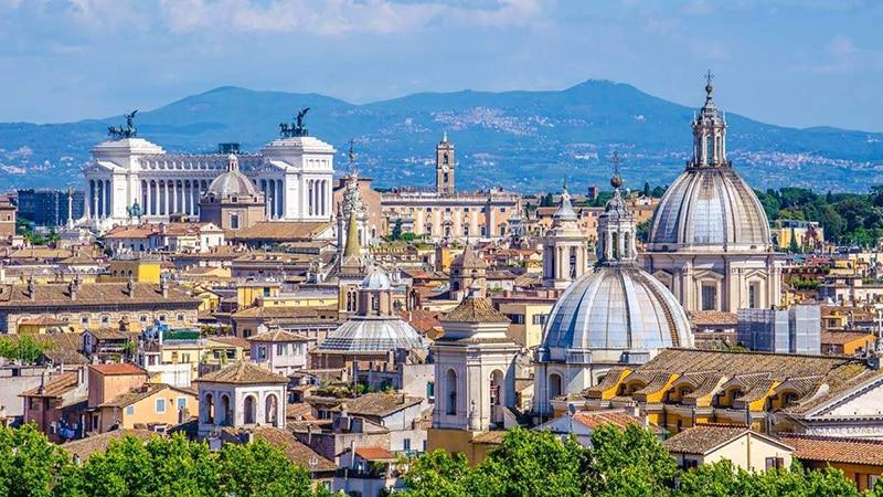 Vista da cidade de Roma na Itália