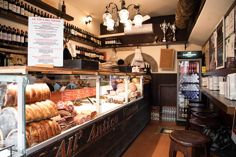 Sanduíche do Restaurante All'Antico Vinaio em Florença