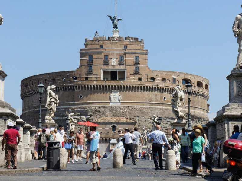 Passeio pelo Castelo de Santo Ângelo em Roma