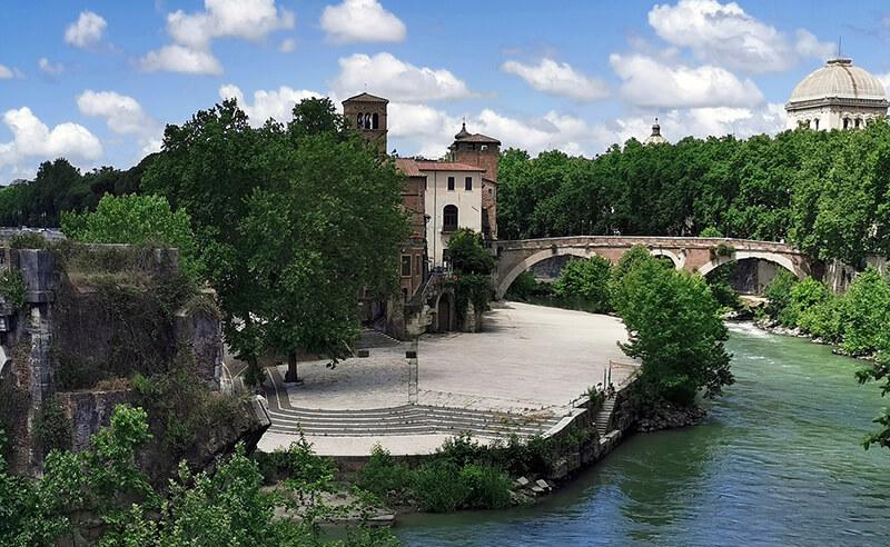 Ilha Tiberina em Roma