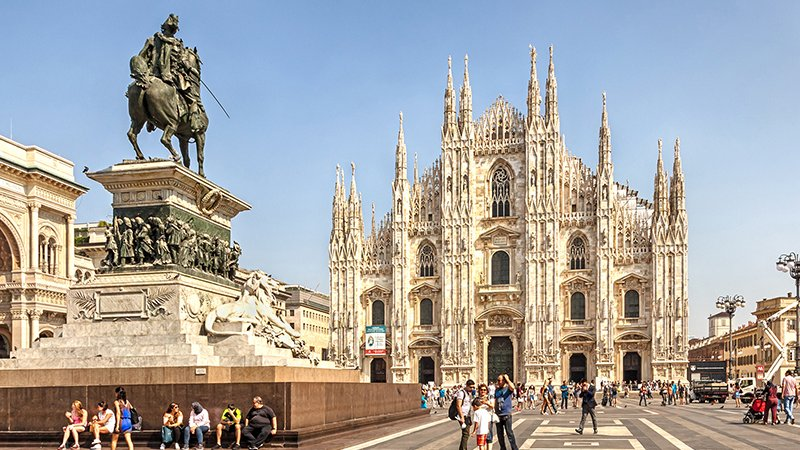 Piazza Duomo em Milão