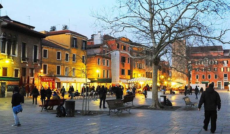 Bairro Dorsoduro em Veneza
