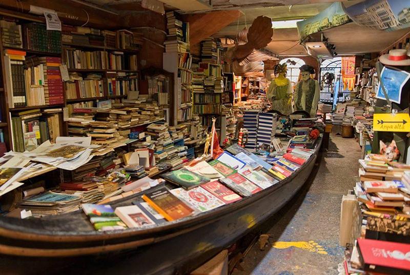 Libreria Acqua Alta em Veneza