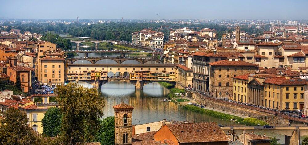 Vista aérea da cidade de Florença