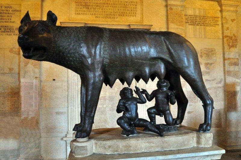 Palácio dos Conservadores no Museus Capitolinos em Roma
