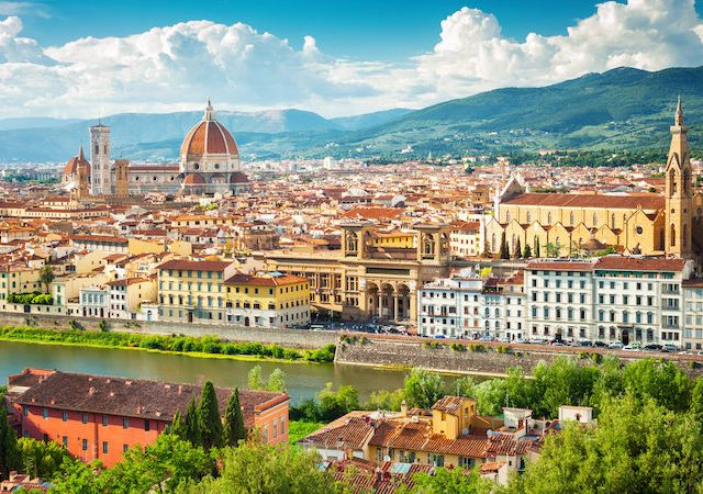 Visão da região de Florença