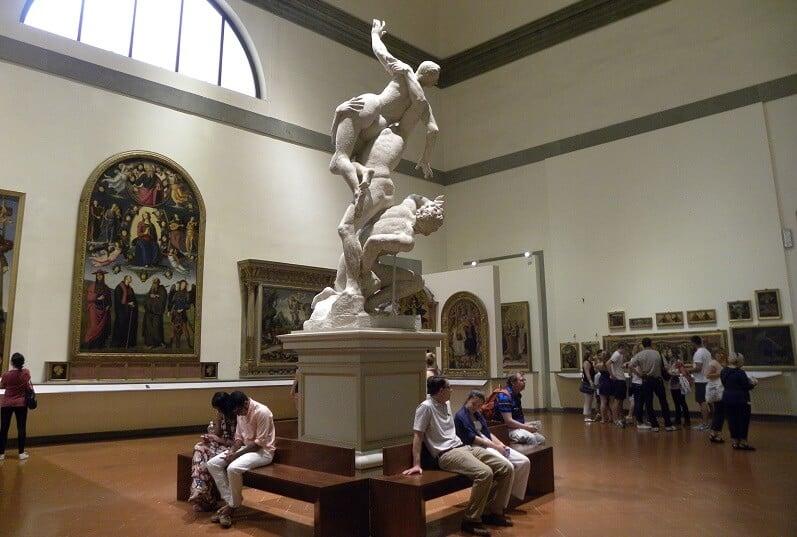 Galeria da Academia de Belas Artes em Florença