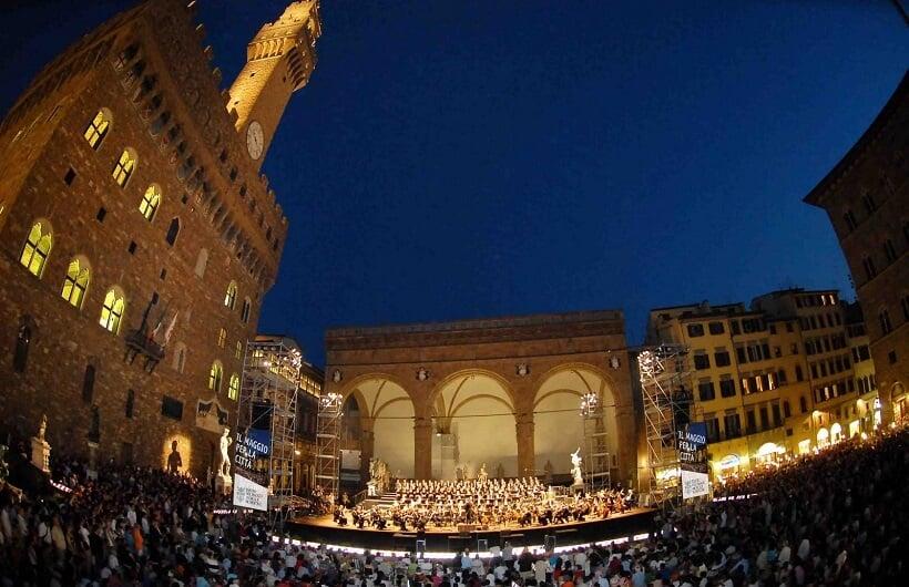 Concerto ao ar livre em Florença