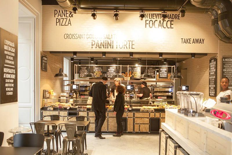Cafeteria do Mercato del Duomo em Milão