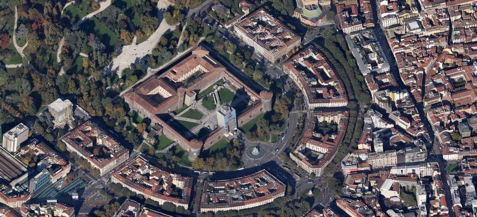 Informações sobre o Castelo Sforzesco em Milão