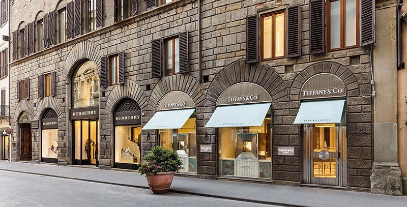 Loja Tiffany & Co na Via Tornabuoni em Florença