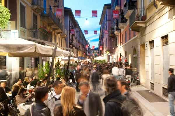 Região de Brera em Milão