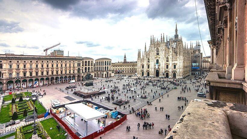 Centro turístico de Milão