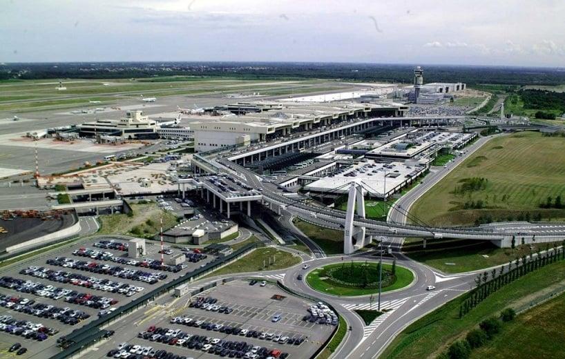 Região do Aeroporto em Malpensa