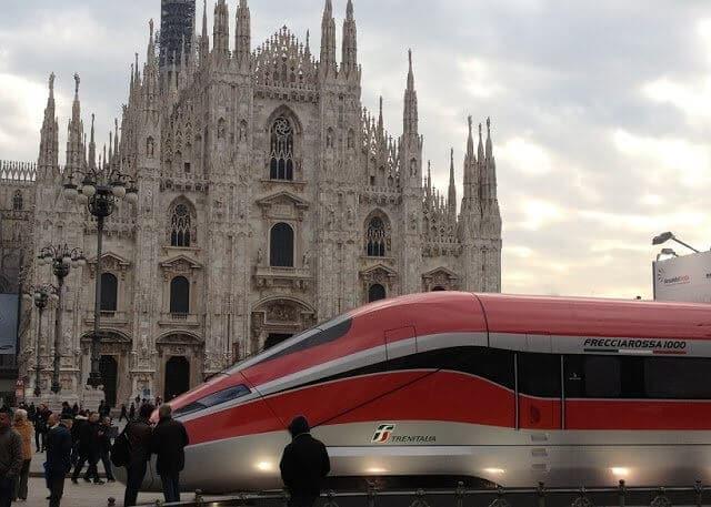 Viagem de trem de Milão a Florença