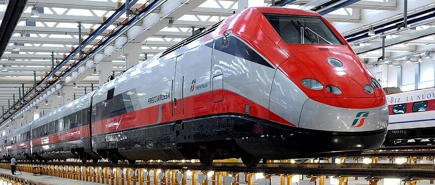Modelo de trem na Itália