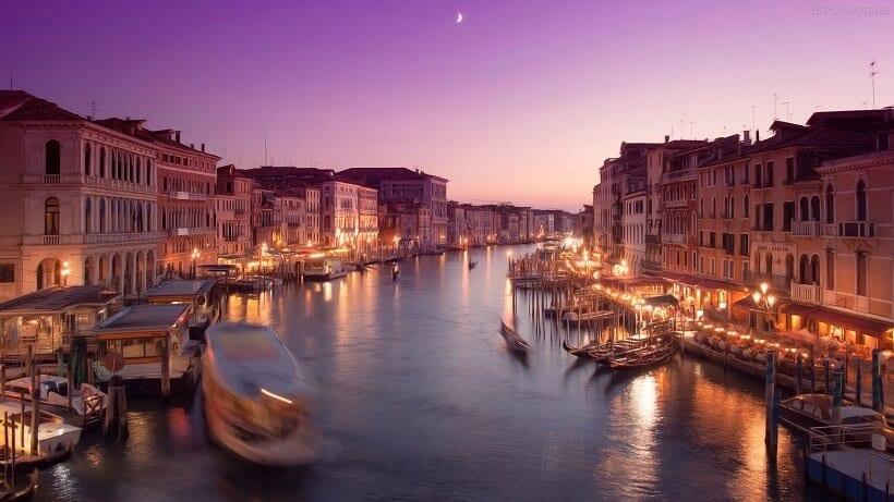 Entardecer em Veneza