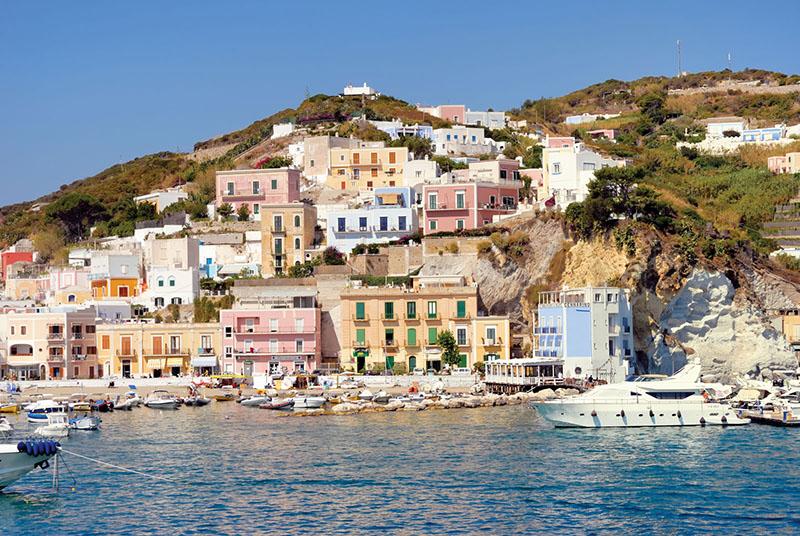 Ilha de Ponza na Itália