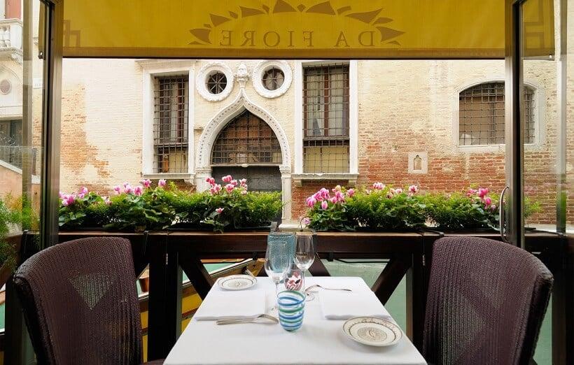 Restaurante romântico Osteria da Fiore em Veneza