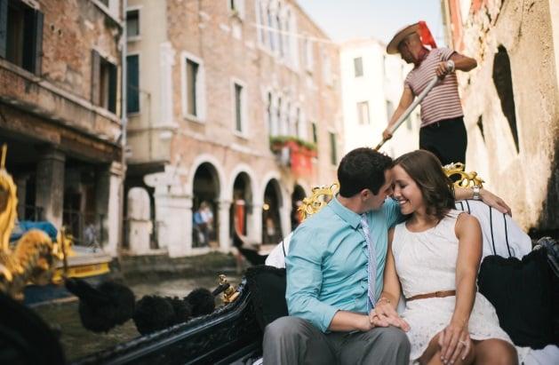 Passeios românticos em Veneza