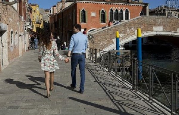 Tour romântico pelas ruelas de Veneza