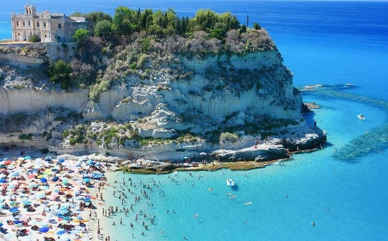 Praias no sul da Itália