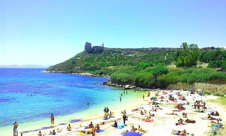 Praia Calamosca em Cagliari