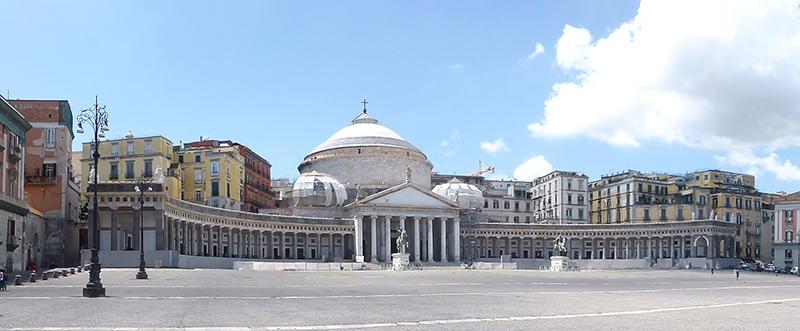 Praça do Plebiscito em Nápoles
