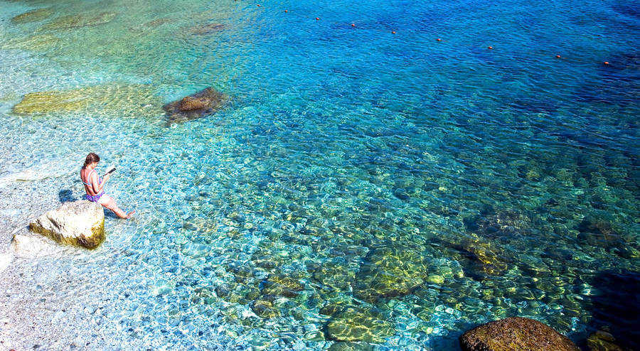 Turistas na Ilha de Capri na Itália