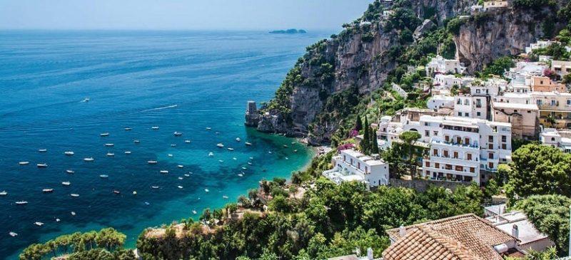 Praia Fornillo Positano em Nápoles