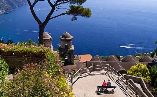 Vista em Ravello na Costa Amalfitana