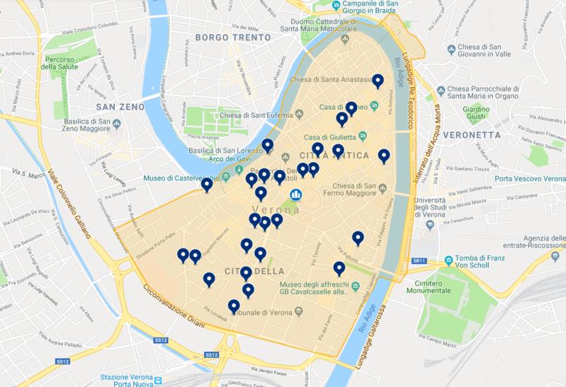 Hotéis no centro histórico de Verona