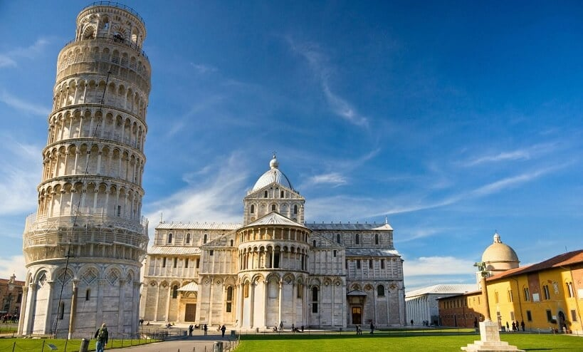 Torre de Pisa em Pisa na Itália