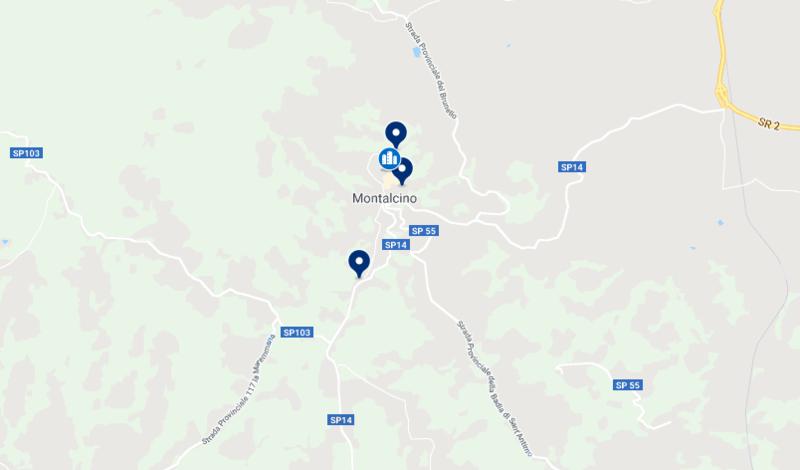 Hotéis em Montalcino