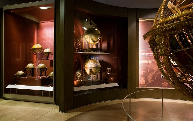 Globos expostos no Museo Galileo em Florença