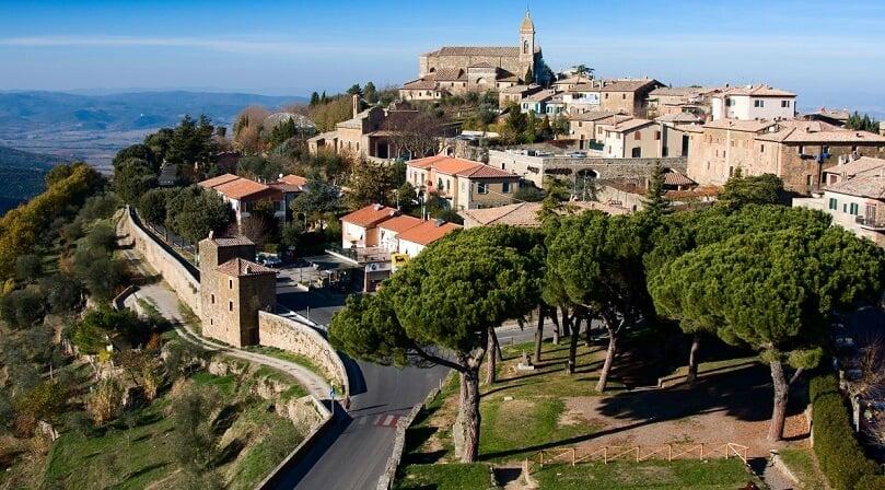 Vista da cidade de Montalcino