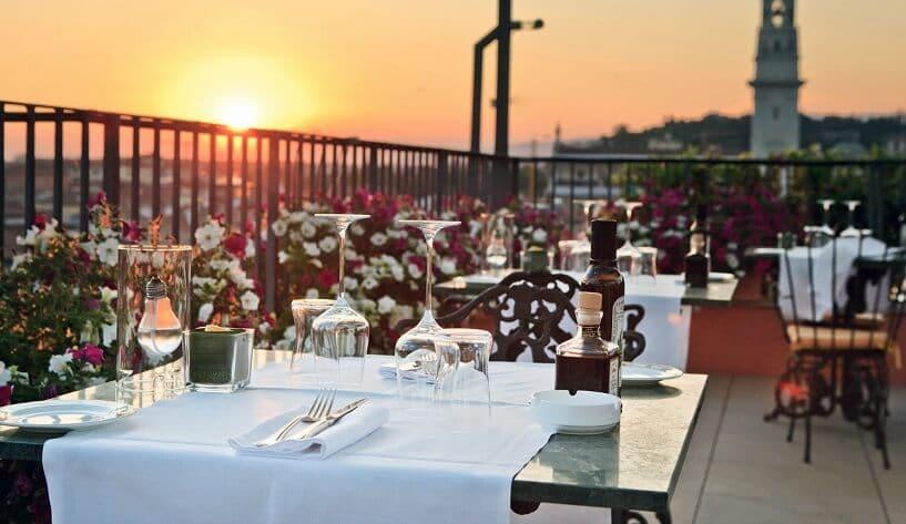 Restaurante em Verona na Itália