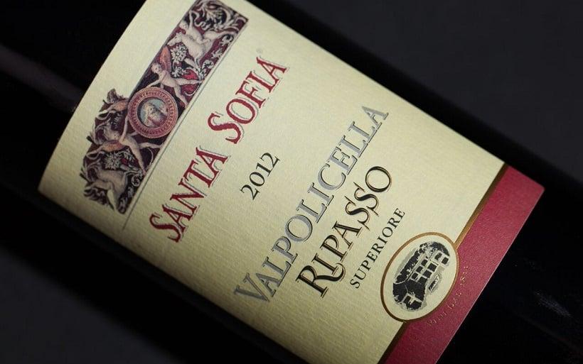 Vinho produzido na vinícola Santa Sofia em Verona