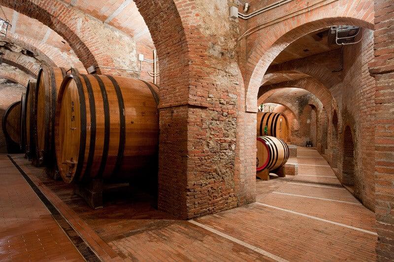 Interior da vinícola Cantina Fattoria della Talosa